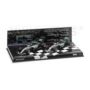 1/43 メルセデス AMG ペトロナス F1 チーム W07 ハイブリッド コンストラクター ワールド チャンピオン 2016 2台セット【412164406】 ミニチャンプス