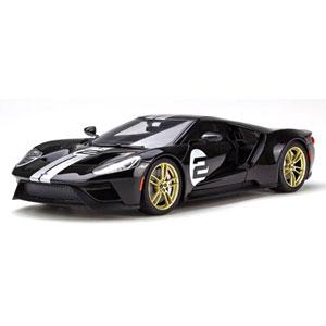 1/18 フォード GT(ブラック/シルバーストライプ)【GTS001US】 GTスピリット