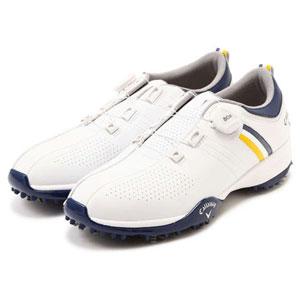 CW BOA ゴルフシューズ キャロウェイ 8983502-031 250 MEN'S (ホワイト/ネイビー・25.0cm) Callaway 8983502-031 AEROSPORT