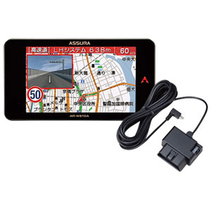 AR-W81GA 117 セルスター GPS内蔵 レーダー探知機 + OBDIIアダプターセット CELLSTAR ASSURA(アシュラ)