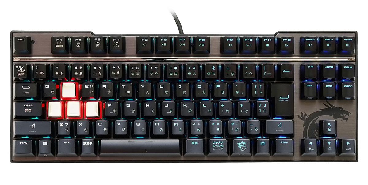 VIGOR GK70 CS JP MSI ゲーミングメカニカルキーボード VIGOR GK70 MX RGB シルバー軸 日本語配列91キー エムエスアイ MSI Vigor GK70 CS JP GAMING キーボード テンキーレス