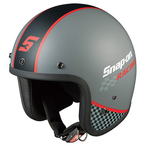 FOLK SNAP ON RACING1 OGKカブト ストリートジェットヘルメット(RACING-1 57~59cm) FOLK Snap-on