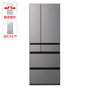 (標準設置料込)NR-F604WPX-H パナソニック 600L 6ドア冷蔵庫(ミスティダークグレー) Panasonic