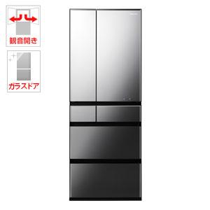 (標準設置料込)NR-F604WPX-X パナソニック 600L 6ドア冷蔵庫(オブシディアンミラー) Panasonic