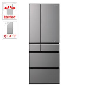 (標準設置料込)NR-F554WPX-H パナソニック 550L 6ドア冷蔵庫(ミスティダークグレー) Panasonic