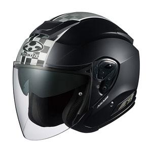 ASAGI SPEED FBK S OGKカブト オープンフェイスヘルメット(フラットブラック S) ASAGI SPEED