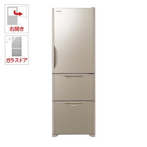 R-S38JV-XN 日立 375L 3ドア冷蔵庫(クリスタルシャンパン)【右開き】 HITACHI