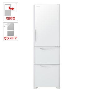 R-S32JV-XW 日立 315L 3ドア冷蔵庫(クリスタルホワイト)【右開き】 HITACHI
