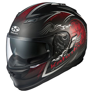 KAMUI2BLAZE FBKRD M OGKカブト フルフェイスヘルメット(フラットブラックレッド M) KAMUI-II BLAZE