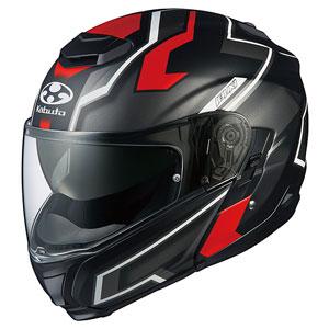 IBUKI DARK FBKRD XL OGKカブト システムヘルメット(フラットブラックレッド XL) IBUKI DARK