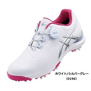 TGN924 0196WHSG 23.0 アシックス レディース・スパイク・ゴルフシューズ(ホワイト/シルバーグレー・23.0cm) GEL-ACE TOUR-LADY Boa