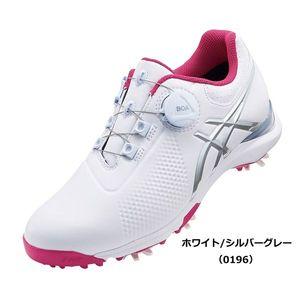 TGN924 0196WHSG 24.0 アシックス レディース・スパイク・ゴルフシューズ(ホワイト/シルバーグレー・24.0cm) GEL-ACE TOUR-LADY Boa