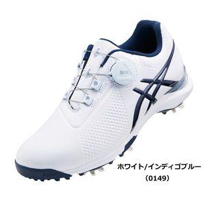 TGN924 0149WHIB 24.0 アシックス レディース・スパイク・ゴルフシューズ(ホワイト/インディゴブルー・24.0cm) GEL-ACE TOUR-LADY Boa