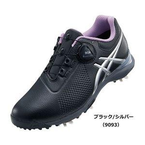 TGN924 9093BKSL 22.5 アシックス レディース・スパイク・ゴルフシューズ(ブラック/シルバー・22.5cm) GEL-ACE TOUR-LADY Boa