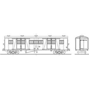 [鉄道模型]ワールド工芸 (HO) 16番 国鉄 ワキ1000形 有蓋車 タイプC(9枚窓) 組立キット