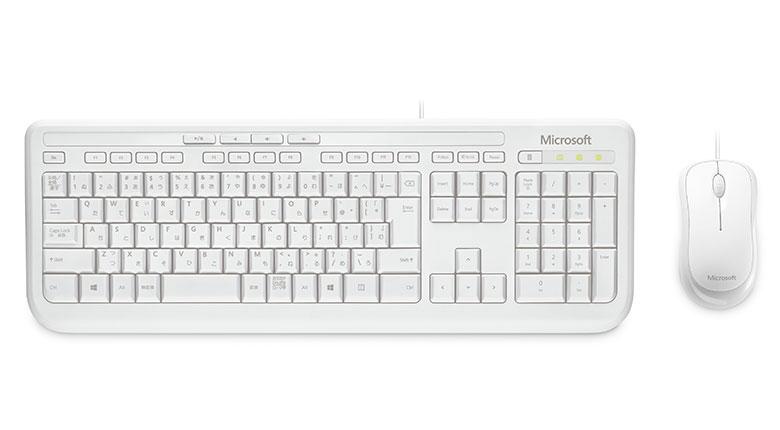 驚きの価格が実現 APB-00033 マイクロソフト 有線 ホワイト キーボード 高額売筋 光学式マウスセット