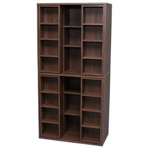 BKS-1890S(ウォールナット) アイリスオーヤマ スライドブックシェルフ(ウォールナット) IRIS 本棚