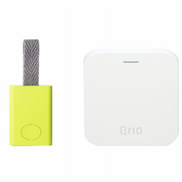 Q-TK1-LY キュリオ Qrio専用遠隔操作ハブ+紛失防止タグ(ライムイエロー) Qrio ただいまキット