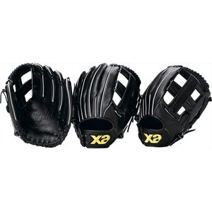 BRG-8151 90 R ザナックス 軟式野球・ソフトボール兼用グラブ(ブラック・右投用) xanax ザナパワーシリーズ 軟式用ミット(オールラウンド大)【限定生産品】