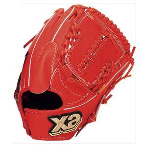 BRG-1718-DR20-R ザナックス 軟式野球 投手兼内野手用グローブ(右投げ用)(DRオレンジ) xanax