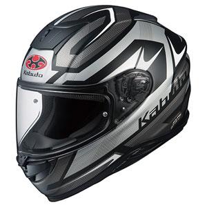 AEROBLADE5 RUSH FBKSIL XS OGKカブト フルフェイスヘルメット(フラットブラックシルバー XS) AEROBLADE-5 RUSH