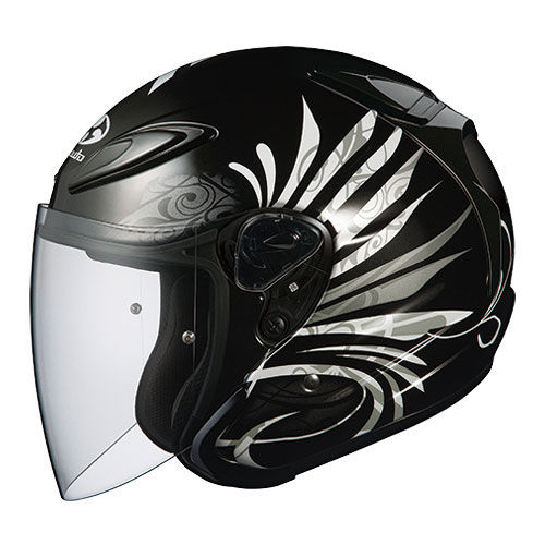 AVAND2 LB BK M OGKカブト オープンフェイスヘルメット(ブラックメタリック-1 M) AVAND-II LB