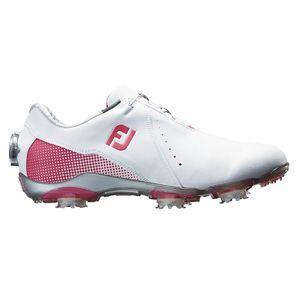 99069W24 フットジョイ レディース・ゴルフシューズ (ホワイト+ピンク・24.0cm) DRYJOYS Boa #99069