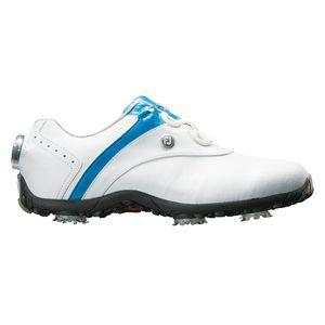 97170W245 フットジョイ レディース・ゴルフシューズ (ホワイト+ブルー・24.5cm) LoPro SPORTS SPIKE Boa #97170