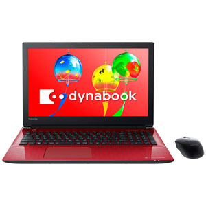 PT75GRP-BEA2 Dynabook 15.6型 ノートパソコン dynabook T75/G モデナレッド dynabook 2018年 夏モデル(Core i7/メモリ 8GB/HDD 1TB/Office H&B)