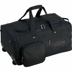 Z-BA768-1900 ゼット 野球・ソフトボール用バッグ(ブラック) ZETT キャスター付き遠征バッグ兼防具ケース