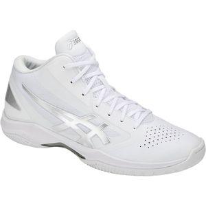 TBF341-0193-24.5 アシックス 男女兼用 バスケットボール シューズ(ホワイト×シルバー・24.5cm・スリム) asics GELHOOPV 10-slim