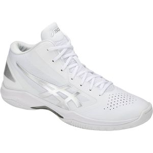 TBF341-0193-25.5 アシックス 男女兼用 バスケットボール シューズ(ホワイト×シルバー・25.5cm・スリム) asics GELHOOPV 10-slim