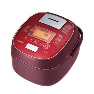 RC-10VSM-RS 東芝 真空圧力IHジャー炊飯器(5.5合炊き) ディープレッド TOSHIBA 圧力+真空 合わせ炊き