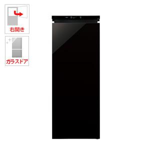 (標準設置料込)AQF-GS15G-K アクア 153L 冷凍庫【右開き】クリスタルブラック AQUA COOLCabinet