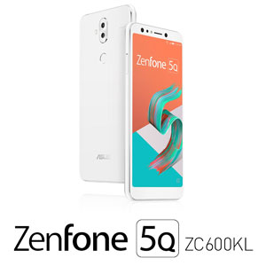 【500円クーポン10/11am1:59迄】ZC600KL-WH64S4 エイスース ASUS ZenFone 5Q (ZC600KL) ムーンライトホワイト 6インチ SIMフリースマートフォン[メモリ 4GB/ストレージ 64GB]