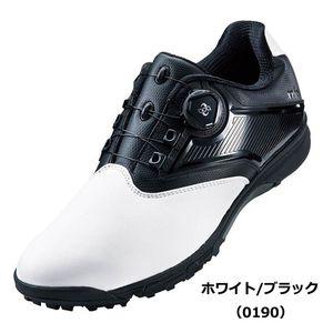 TGN921 0190WHBK 26.5 アシックス メンズ・スパイクレス・ゴルフシューズ (ホワイト/ブラック・26.5cm) asics GEL-TUSK 2 Boa