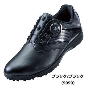 TGN921 9090BKBK 24.5 アシックス メンズ・スパイクレス・ゴルフシューズ (ブラック/ブラック・24.5cm) asics GEL-TUSK 2 Boa