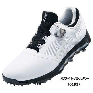 TGN922 0193WHSL 25.0 アシックス メンズ・ソフトスパイク・ゴルフシューズ (ホワイト/シルバー・25.0cm) asics GEL-ACE PRO X Boa