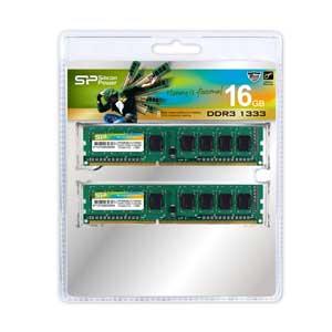 【エントリーでP5倍 8/9 1:59迄】SP016GBLTU133N22 シリコンパワー PC3-10600(DDR3-1333)240pin DDR3 Unbuffered DIMM16GB(8GB×2枚)