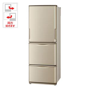 SJ-W352D-N シャープ 350L 3ドア冷蔵庫(ゴールド系) SHARP どっちもドア