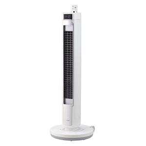 KTF-0581-W コイズミ 【扇風機】DCモーター搭載 タワーファン(リモコン付 ホワイト) KOIZUMI コードレスタワーファン