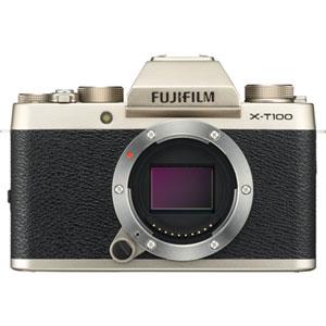 FX-T100G 富士フイルム ミラーレス一眼カメラ「FUJIFILM X-T100」ボディ(シャンパンゴールド)