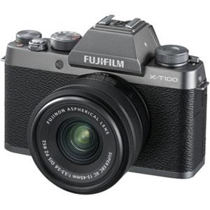 FX-T100LKDS 富士フイルム ミラーレスデジタルカメラ「X-T100」レンズキット(ダークシルバー)