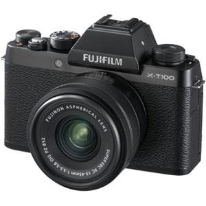 FX-T100LKB 富士フイルム ミラーレスデジタルカメラ「X-T100」レンズキット(ブラック)