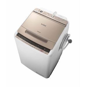 (標準設置料込)BW-V80C-N 日立 8.0kg 全自動洗濯機 シャンパン HITACHI ビートウォッシュ