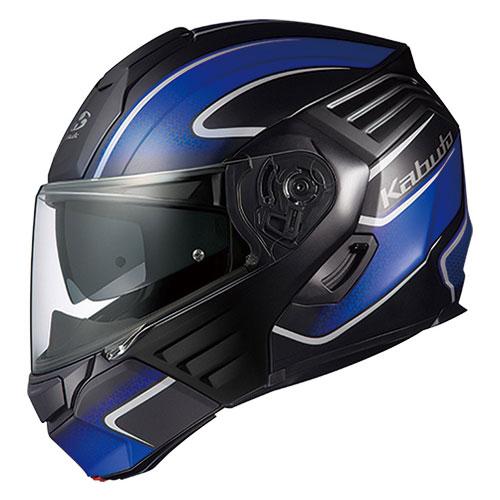 KAZAMI XCEVA FBKBL M OGKカブト システムヘルメット(フラットブラックブルー M) KAZAMI XCEVA