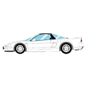 1992 グランプリホワイト【EM388F】 HONDA 1/43 メイクアップ NSX-R(NA1)