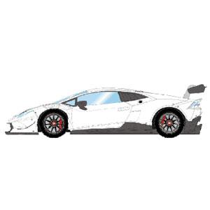 1/43 Lamborghini Huracan LP620-2 Super Trofeo 2014 パールホワイト【EM324B】 メイクアップ