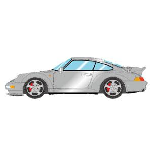 1/43 Porsche 911(993) Turbo 1995 シルバー【VM143A】 メイクアップ