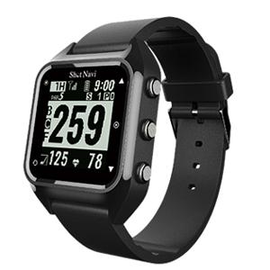 HUG(B) ショットナビ GPSゴルフナビ ウォッチタイプ(ブラック) テクタイト ShotNavi 心拍・活動量計測機能搭載